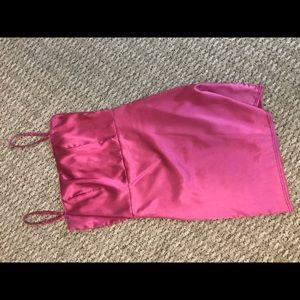 Nasty gal hot pink satin silk dress slip